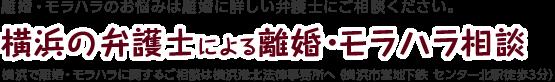 横浜の弁護士による離婚・モラハラ相談